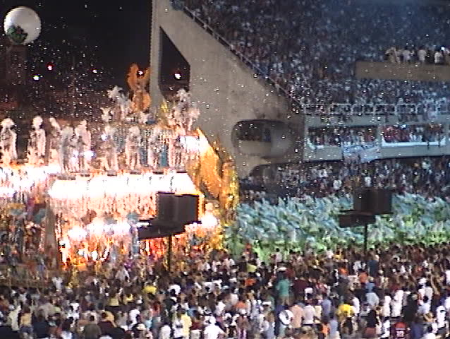 Carnival Show Rio de Janeiro (Brazil), several fantasy floats (1) - no sound, DV 4:3, Sony TRV 130 - SD stock footage clip