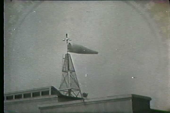 1960s - Gemini 5 spots a hurricane in the Atlantic. - SD stock footage clip