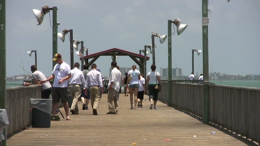 Video of fishing pier at port isabel texas family walking for South padre island fishing pier