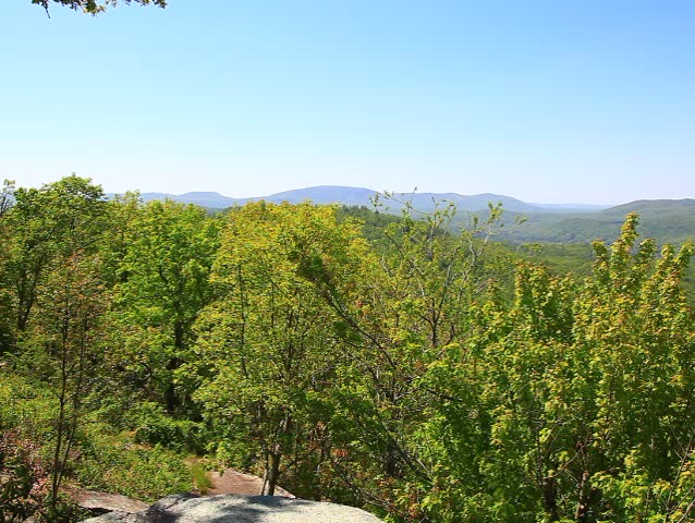 North Carolina Mountains View from Jump Off Rock in Hendersonville