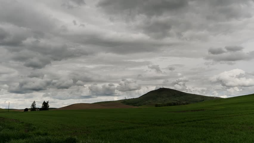 Storm clouds over Steptoe Butte in eastern Washington State