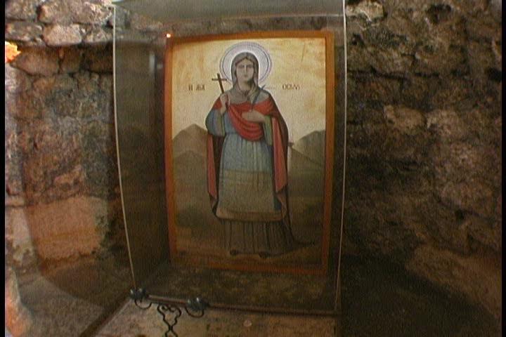 Cave of Thecla near Silifke, southern Turkey - SD stock video clip
