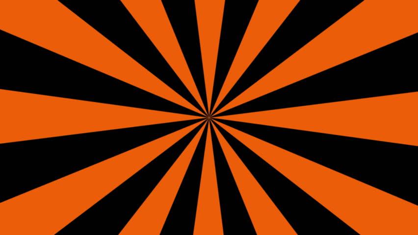 A Seamless Looping Black And Orange Pinwheel Background