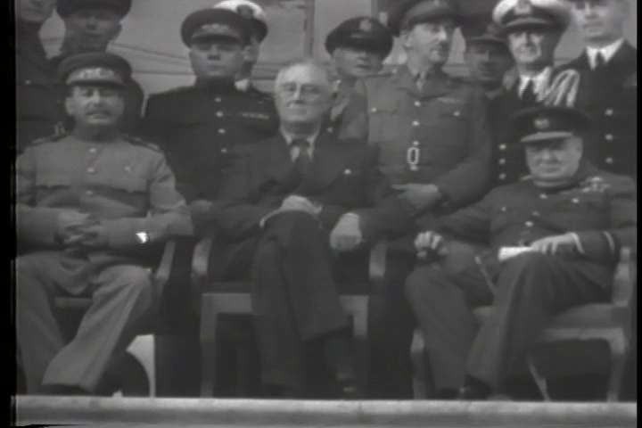 1940s - The big three and general Dwight Eisenhower plan and execute D-Day during World War 2