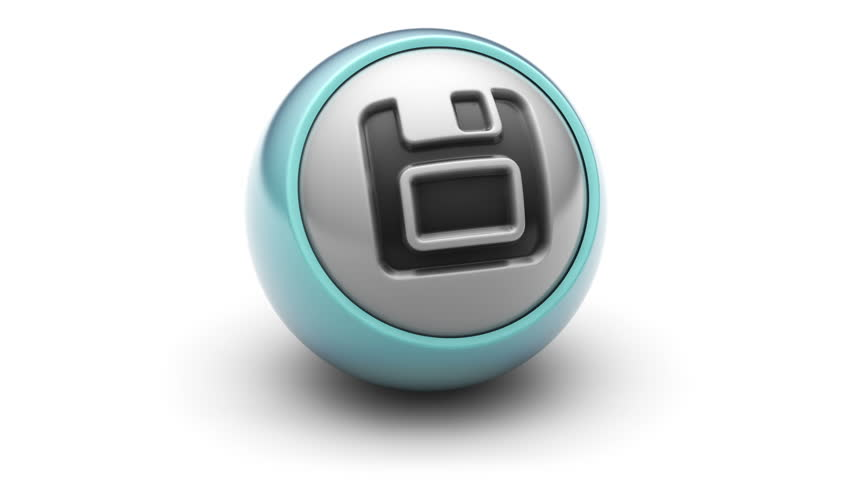 Save icon on ball. Looping.