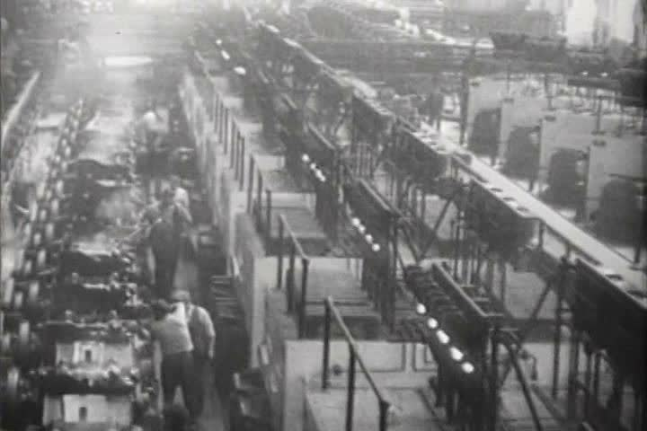 1920s - Very good shots of the industrial age in America circa 1927.