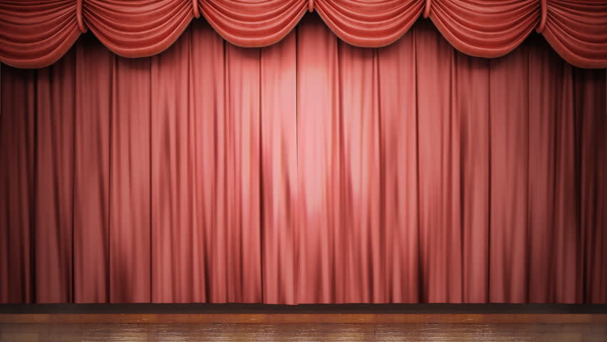 High definition clip of an opening red stage curtain. Animated mask for easy composition added.  - HD stock video clip