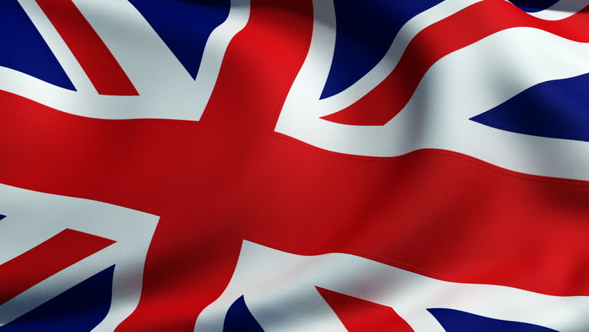 3d animation of an british flag closeup, highly detailed with fabric texture and sewing seams where each part is sewed together. - HD stock footage clip