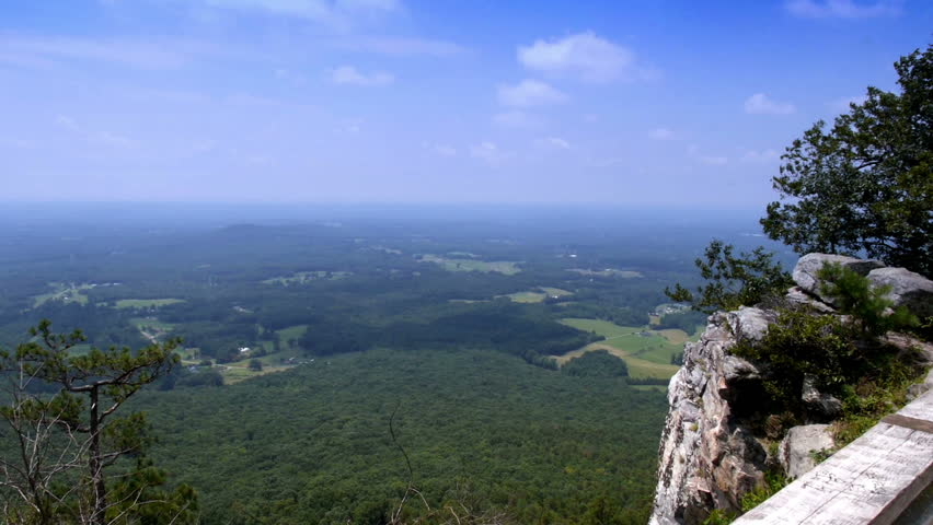 The view from the top of Pilot Mountain in northern North Carolina. - HD stock footage clip
