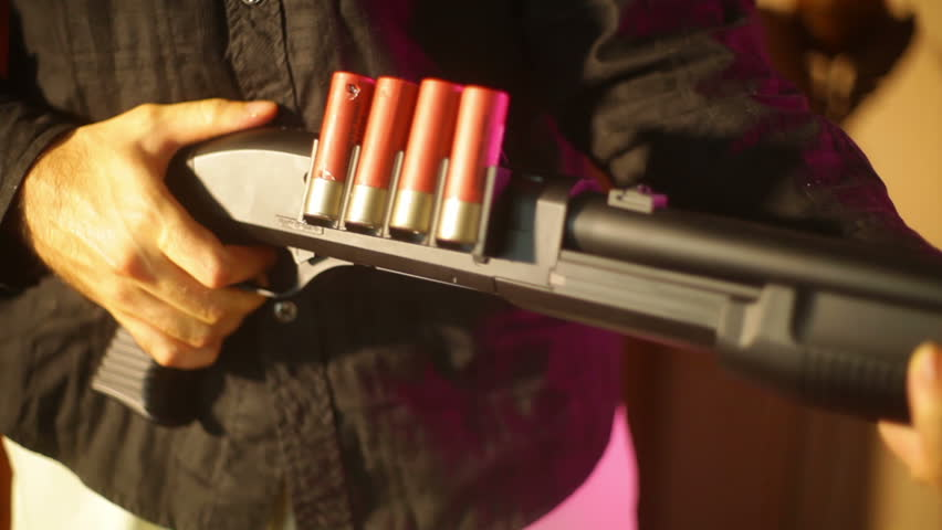 Pumping a shotgun