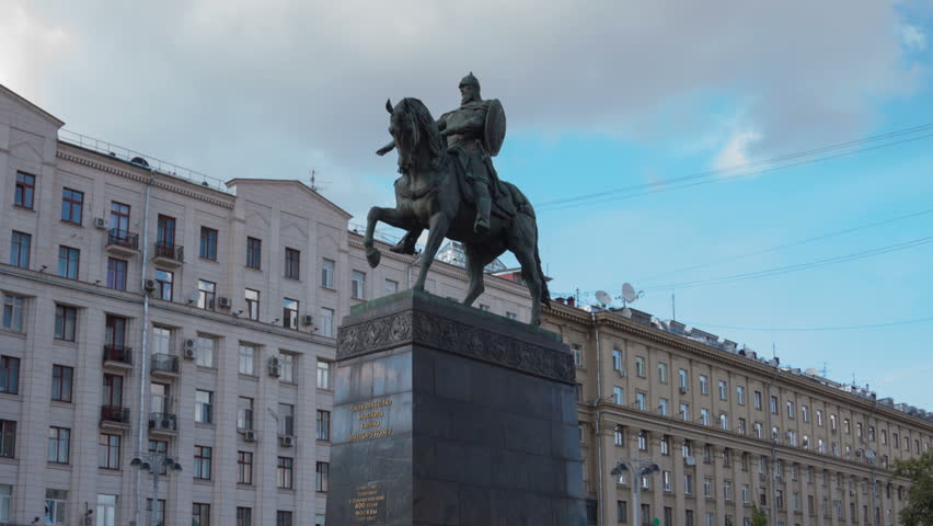 Monument to Founder of Moscow city, Russia