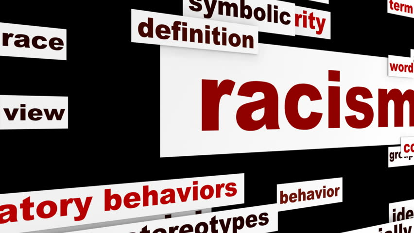 Racism warning message design. Discrimination issue conceptual hd animation - HD stock footage clip
