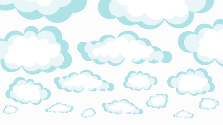 Cartoon clouds. - HD stock video clip