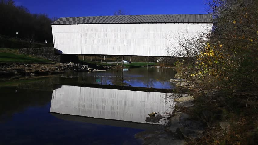 Walcott Covered Bridge, Kentucky - HD stock video clip