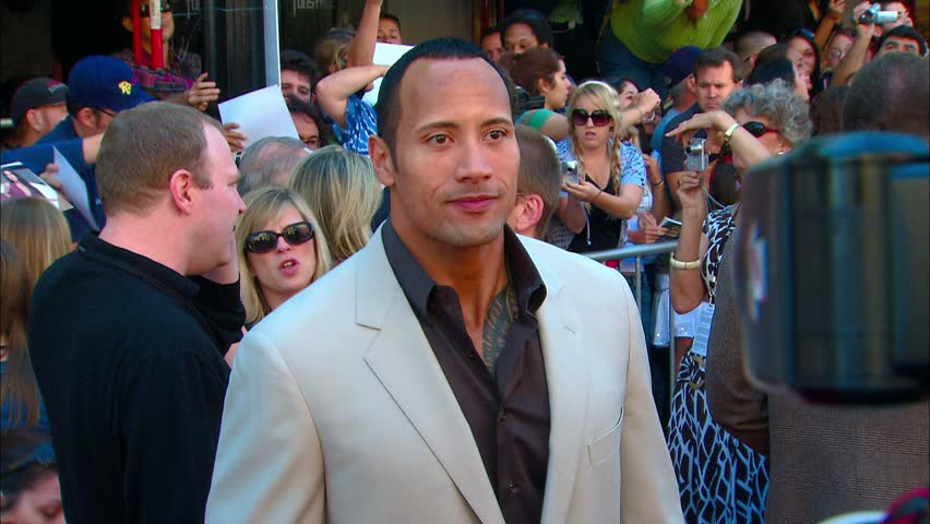 HOLLYWOOD - September 23, 2007: Dwayne Johnson/The Rock at the Game Plan Premiere in the El Capitan Theatre in Hollywood September 23, 2007