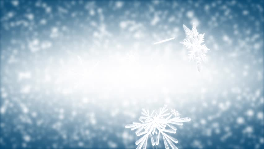 Looking up in the sky at snowflakes falling past you. - HD stock footage clip