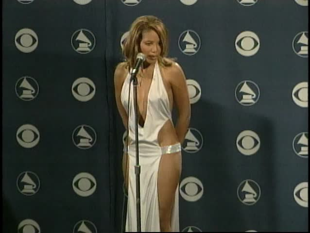 LOS ANGELES - February 21, 2001: Toni Braxton at the Grammy Awards 2001 Press Room in the Staples Center in Los Angeles February 21, 2001