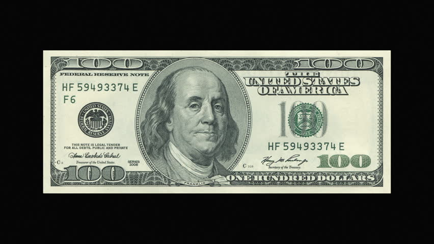 combustion of 100 dollar bill hd stock video clip