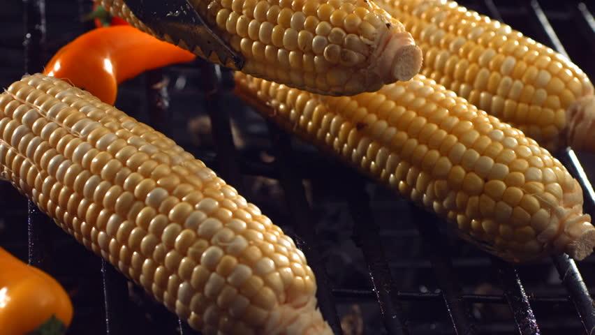 Corn on barbecue grill