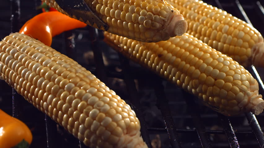 Corn on barbecue grill
