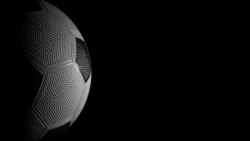 Soccer ball against black loop V4