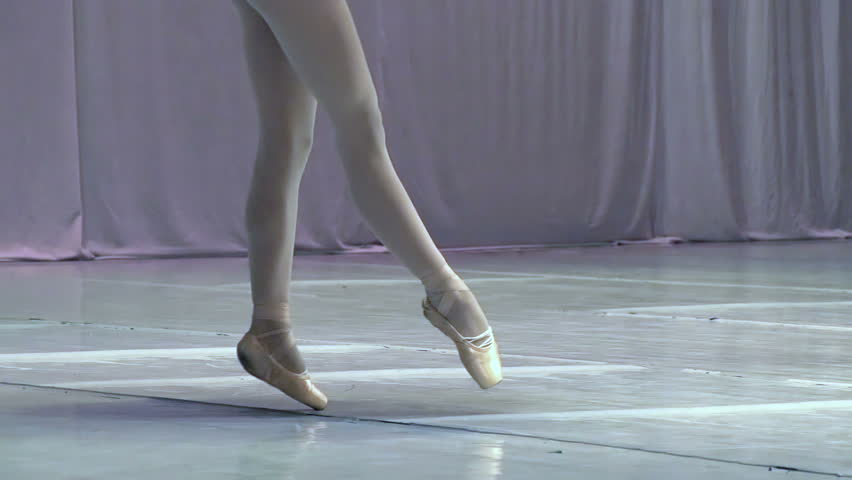 Dance of the Ballerina. Ballerina shows classic ballet pas. Slow Motion at a rate of 240 fps - HD stock video clip