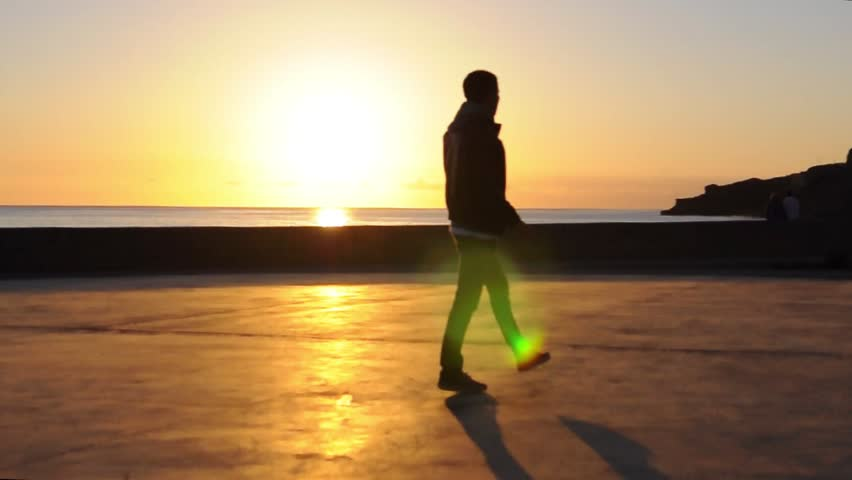 Dancer boy sunset