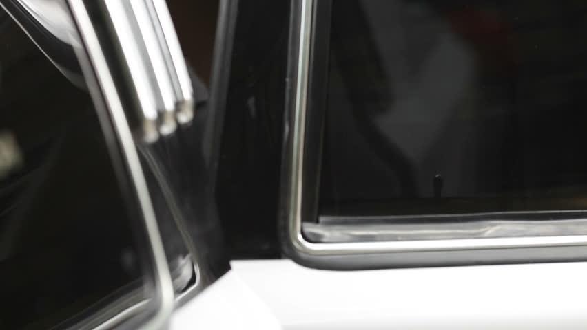 Closing the limousines door . - HD stock video clip