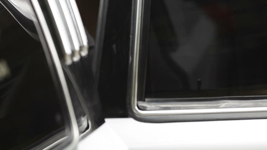 Closing the limousines door . - HD stock footage clip