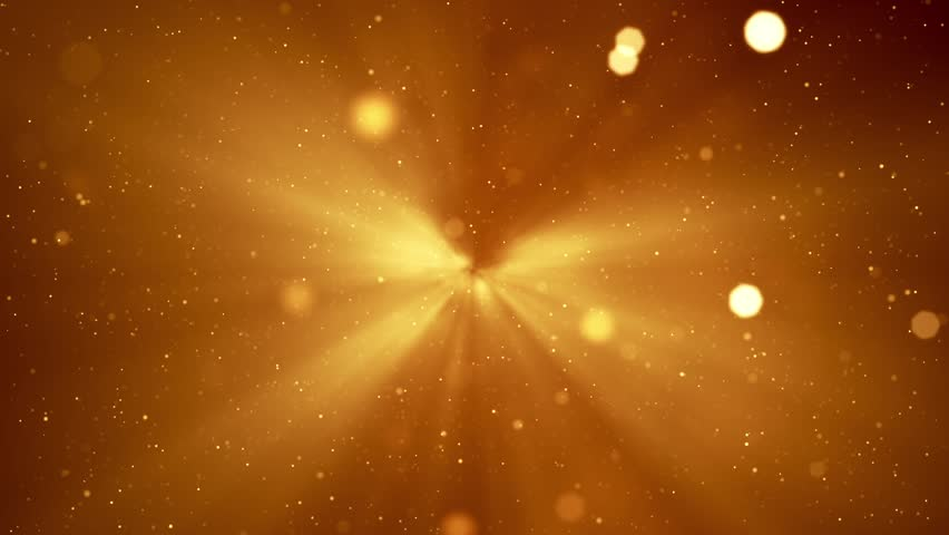 Moving Particles Loop - Gold.