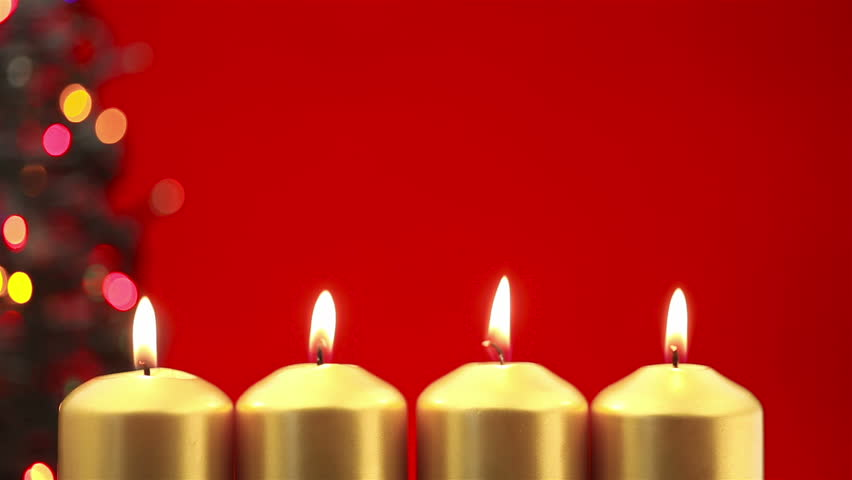 Advent Candle Background Candles Burning For Advent