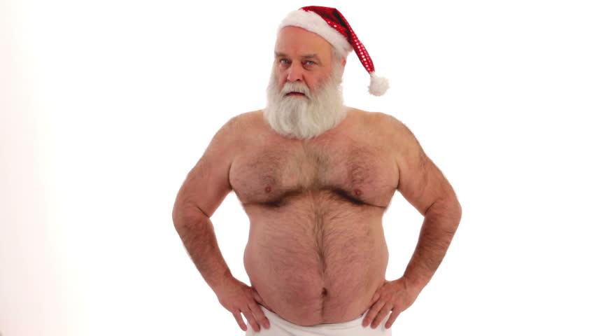 freaky Santa Claus real character Santa Claus gesticulates