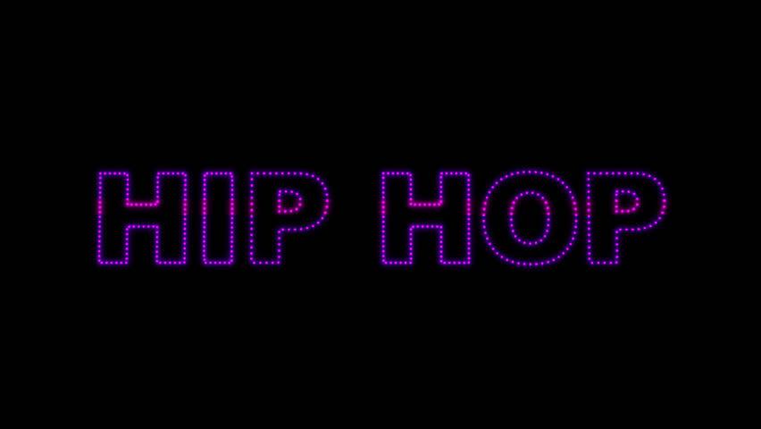 Set of 10 Hip Hop text LEDS reveals with alpha channel