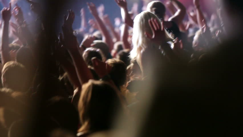 concert crowd, slow motion, also normal speed version of this video available in my portfolio