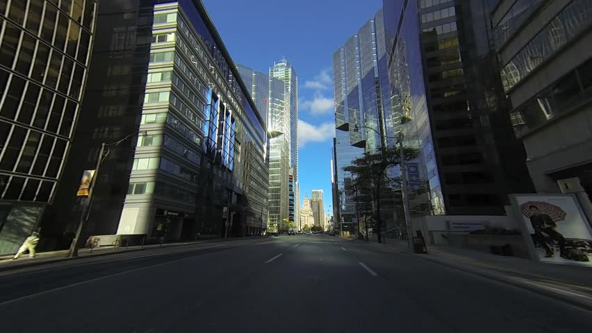 A point of view drive through Toronto, Canada traffic - HD stock video clip