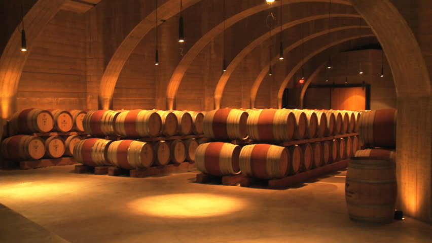 Wine Cellar Barrels - HD stock video clip