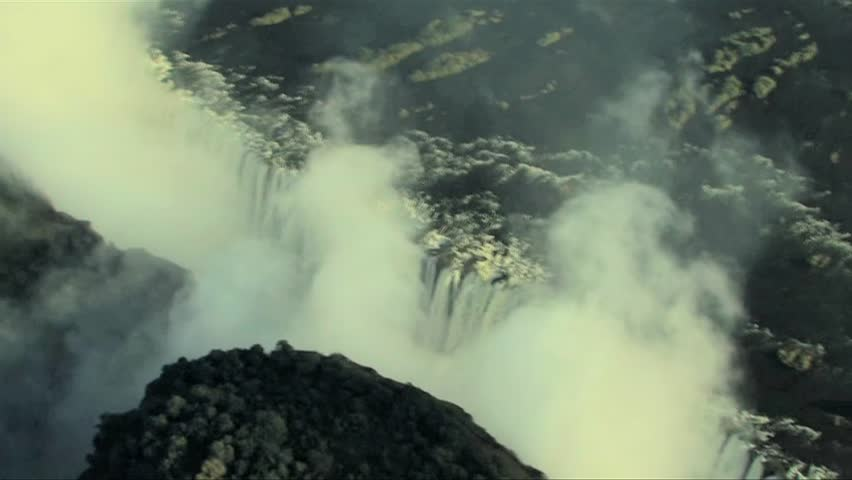 Aerial view of spectacular Victoria Falls.