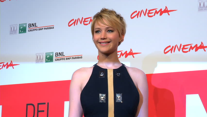 "ROME - NOVEMBER 14: Jennifer Lawrence on the red carpet for the world premiere of ""The Hunger Games: Catching Fire"" during the 8th Rome Film Festival on November 14, 2013 in Rome."