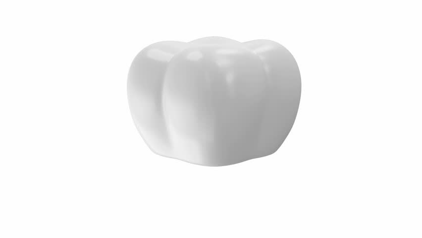 Animation of Tooth Implant  on Different Backgrounds with Green Screen and Alpha Matte. Full HD Video Clip