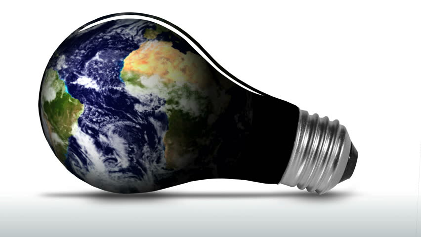 Earth light bulb - HD LOOP - HD stock video clip