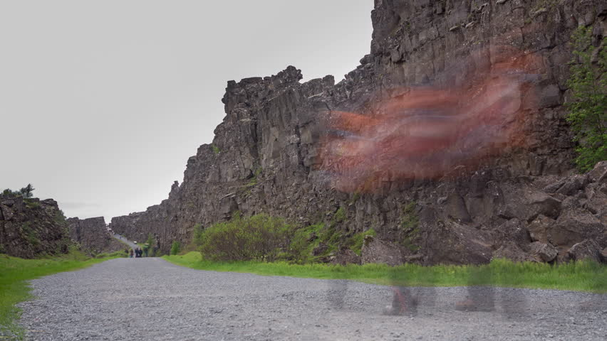 Loop-ready Long exposure time lapse of National Park of Thingvellir (Iceland)