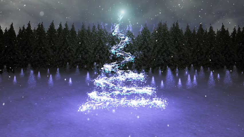 Magical Christmas with Santa - This video features a camera zooming through clouds catching a glimpse of Santa and culminating with a particle Christmas tree and animated Season's greetings message.
