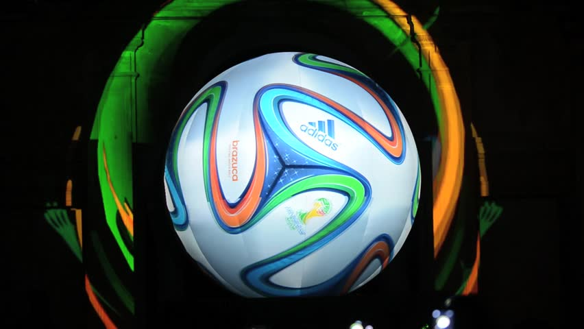 RIO DE JANEIRO, BRAZil - DECEMBER 3: The 2014 World Cup official ball Brazuca  unveiling ceremony at Parque Lage on December 3, 2013 in Rio de Janeiro, Brazil.
