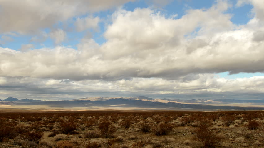 Time Lapse of the Mojave Desert Storm Clouds -4K UHD, Ultra HD resolution
