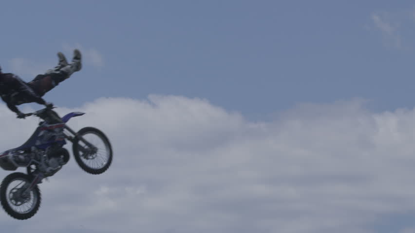 Extreme Sport Motocross FMX Rider Big Jump
