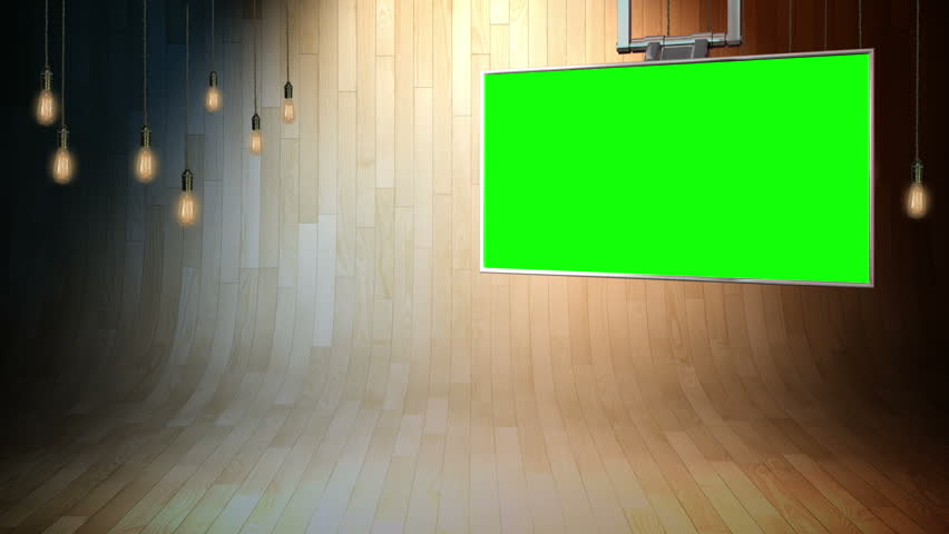 This background is designed to be used as a virtual background in a chroma key video production.  The studio is setup as a news studio backdrop or broadcasting studio layer in a video editor.