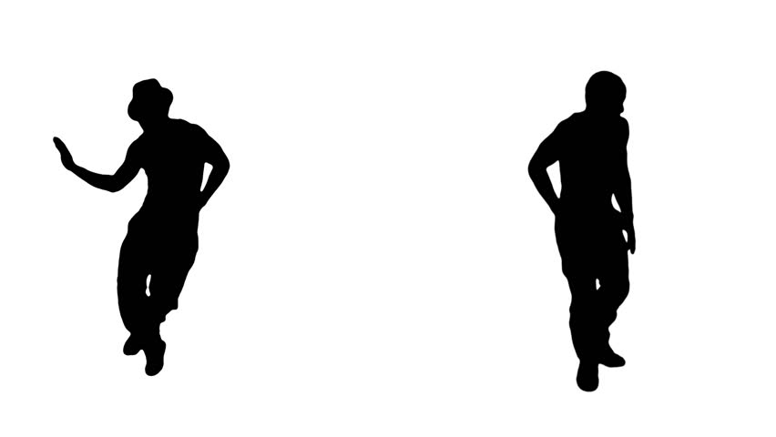 Male Dancing silhouette. Hip hop. 2 in 1. More options in my portfolio.