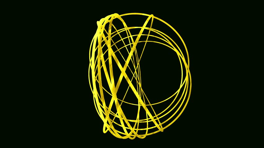 Sphere made from random rotating hoops Spiral Abstract Motion Black Background Animated Computer Design Abstract Background uhd ultra hd 4k 4096 quad