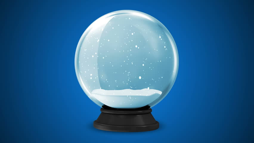 Crystal Ball with Falling Snow Inside. HQ Seamless Looping Animation