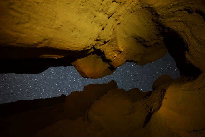 4K Astrp Time Lapse of Keyhole Cave in California Desert